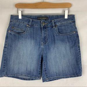 DENVER HAYES Mid rise stretch denim shorts SZ 6